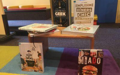 Livres de cuisine à la médiathèque